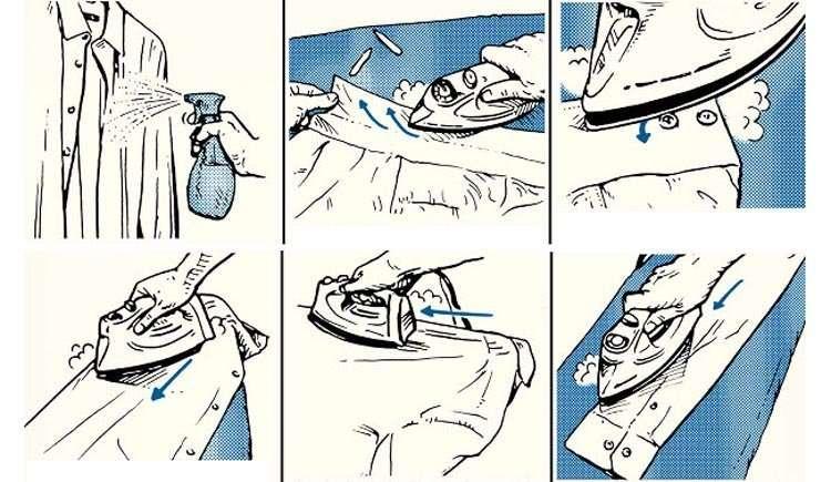 cum se calca o camasa